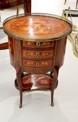 A Beautiful French Marquetry Inlaid Side Table