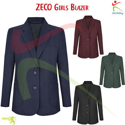Zeco NEW Girls Badge Access Blazer School Wear Uniform Teflon Coated Plain Coat