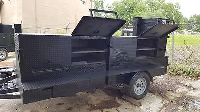 BBQ Smoker Grill Trailer Food Truck Mobile Catering Concession Street Vending