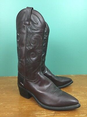 0cba1e414e1f VINTAGE ACME COWBOY Boots Men s Size 8 D Brown Leather Western Made ...