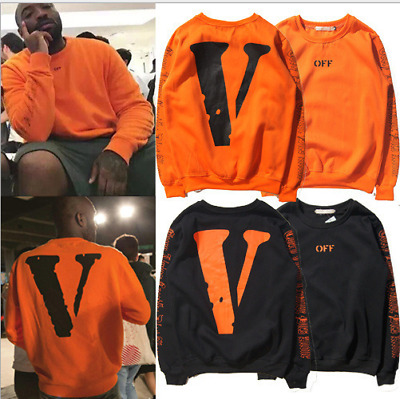 OFF- White All-star with the same paragraph Men Women V-print Sweatshirt hot!
