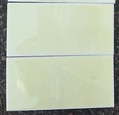 4 plain creamy handpainted & glazed fireplace set of luxurious-spacer tiles