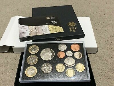 Royal Mint Proof Coin Set 2010 2011 incl £1 Cities | Prince Philip £5 | WWF 50p