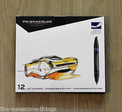 MARKERS Prismacolor Premier 12 Double Ended Markers Rotuladores Especiales Arte