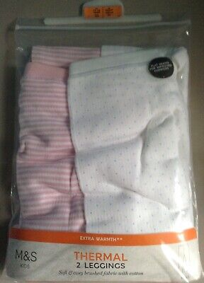 Bnwt Girls Thermal Leggings Age 11-12 Years, M&S , Extra Warmth