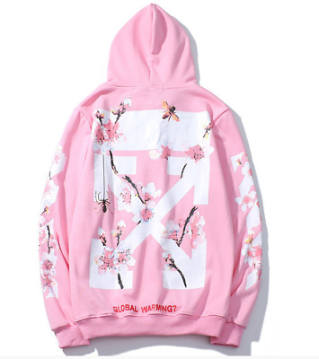 Unisex OFF Hoodie Logo Pullover Off Inspired Flower Design High Quality  Hoodie