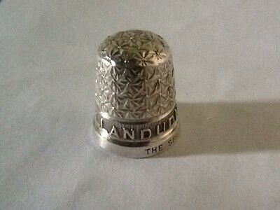 Rare Antique Silver Thimble With Town Name - Llandudno, Wales - 1930