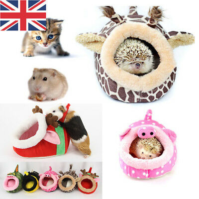 Soft Pet Cozy Guinea Pig Bed House Small Animal Hamster Rat Hammock Nest Pad UK