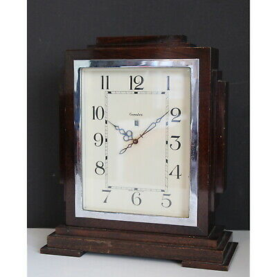 An Art Deco Mahogany Cased Genalex Electric Mantle Clock C1920