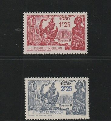 St Pierre & Miquelon - French Colonial - 2 Old Stamps Mh ( Spmi 758 )