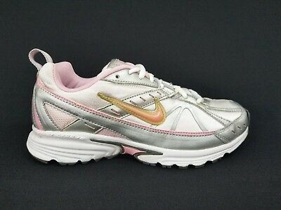 dd08dec52010 NIKE DART VI Pink White Silver ATHLETIC RUNNING SHOES WOMENS SIZE 8 ...
