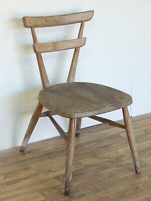 Rare vintage Ercol green dot childrens stacking chair model 462 mid century chic