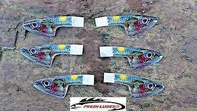 Fly tying epoxy plate heads 40mm x 10mm Chartreuse Sandeel X 3 Sets Fishing fly