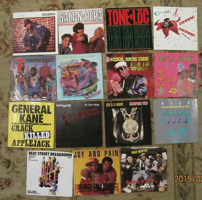 LOT of 15 RAP 45rpm Picture Sleeves (only) All from 1980s