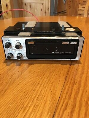 Vintage Motorola UNDERDASH 8-Track Tape Player Model TM228S