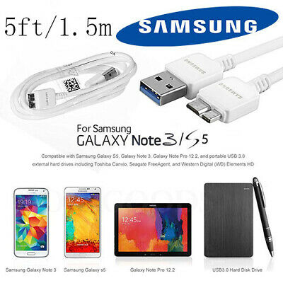 5ft Original Samsung Galaxy Note3 S5 USB 3.0 Data Sync Charger Cable ET-DQ11Y1WE