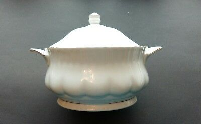 Chodziez Iwona Serving Dish/Tureen With Lid, White Porcelain With Gilding Detail