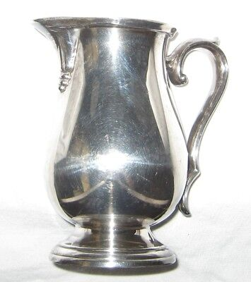 Vintage International Silver Co. Silverplate Webster Wilcox Creamer Pitcher 7804