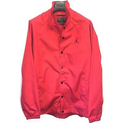 NIKE Air Jordan Mens Wings Coaches Track Jacket Snap Front Red XL -MSRP $110