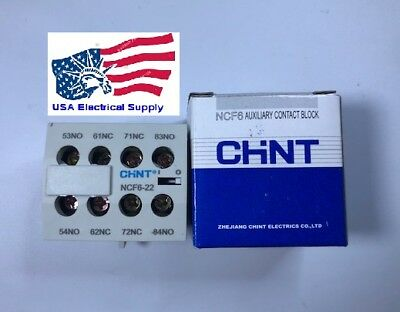 New  NCF6-22 Chint Auxiliary Contact Block  2NO+2NC