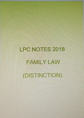 FAMILY LAW II LPC Notes 2018 II  Distinction Quality