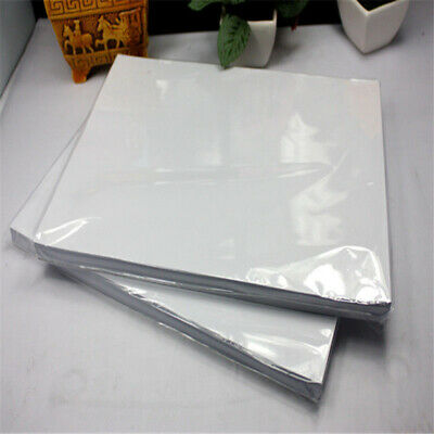 100 Sheets A4 Dye Sublimation Heat Transfer Paper White T-shirt Glass Mug Photo