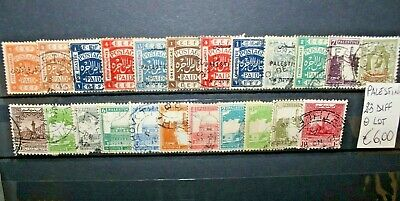 Francobolli Palestina Palestine 23 Different Stamps Used Lot (Cat.4)