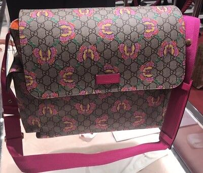 cb642fc42 BNWT Gucci diaper bag in GG Supreme canvas with butterfly print W Changing  Mat