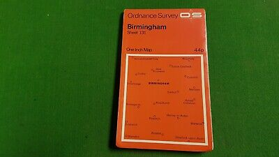 Sheet 131 Birmingham OS Map One Inch Orange Cover Ordnance Survey