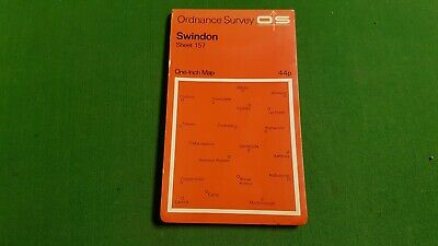 Sheet 157 Swindon OS Map One Inch Orange Cover Ordnance Survey