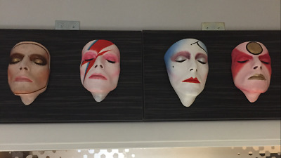 Rare Set Of Four David Bowie V & A Life Masks Sculptures Signed By Nick Boxall