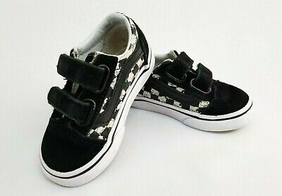 47472ef6e9 Vans Peanuts Snoopy Black White Checkerboard Sneakers Toddler Shoes Size 5