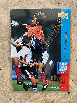 1997 Upper Deck England DAVID SEAMAN Three Lions Embossed Limited NMint