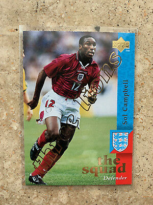 1997 Upper Deck England  SOL CAMPBELL Three Lions Embossed Limited NMint