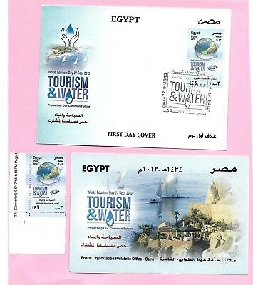 Egypt Ägypten 2013 FDC MNH Stamp World Tourism Day and Water 1500FDC Issued Only