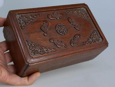 Antique Chinese Wooden Trinket Box Hand Carved