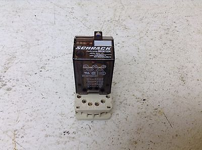 Schrack MR301024 24 VDC Pilot Relay w/ Base