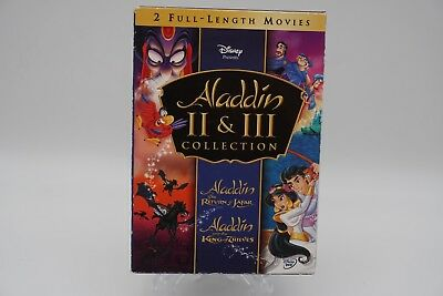 Aladdin The Return Of Jafar + Aladdin And The King Of Thieves (DVD, 2005) NEW