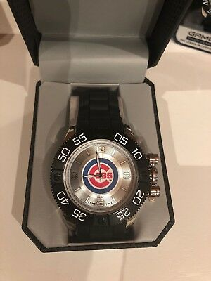 422af0f4887 Chicago Cubs Watch Wristwatch NEW Game Time Beast Men's Big Timepiece MLB