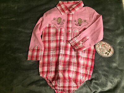 181b223c3 Wrangler All Around Baby Western Shirt Infant Girl Size 3-6 Months Pink