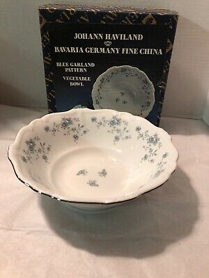 Johann Haviland Bavaria Germany Blue Garland Vegetable Serving Bowl NIB