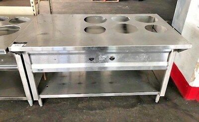 Amazing Gas 6 Well Water Bath Steam Table Hot Food Buffet Round Soup Insert Download Free Architecture Designs Jebrpmadebymaigaardcom