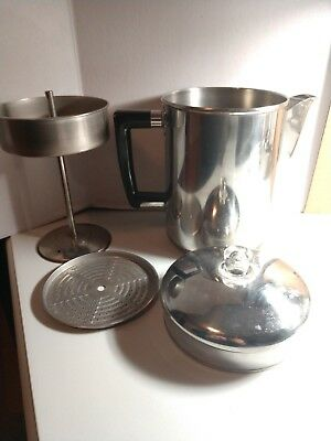 Maid of honor Coffee Pot Stainless Steel Copper 4 to 8 Cup Stove Top Percolator