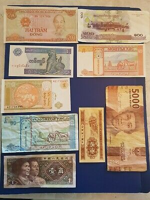 Nice old Bank Note Currency Money lot bundle mix world collector from earth A15