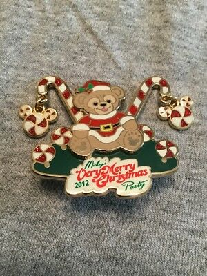WDW MVMCP 2012 Mickey's Very Merry Christmas Party Boxed Duffy LE 850 Disney Pin