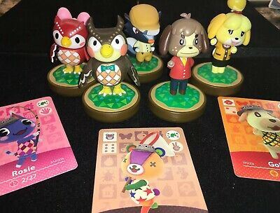 Welcome To Animal Crossing amiibo Festival Wii U With 5 Amiibo's! & 3 cards incl
