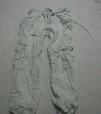 Cloth /& Stone Light Cargo Roll Up Pants Size 2 4 Sky Color NW ANTHROPOLOGIE Tag