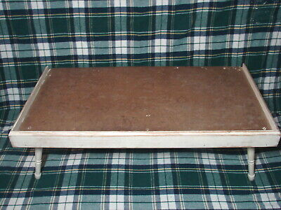 Vintage FOLDING LAP BED TRAY DESK Shabby Chic Wood Serving Table