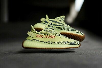 d47c10e3b6237 DS ADIDAS YEEZY Boost 350 V2 Zebra Size 9 bred frozen yellow wave ...