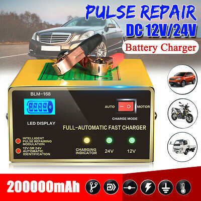 12V 24V Car Battery Charger Automatic Intelligent Lead Acid Pulse Repair Starter